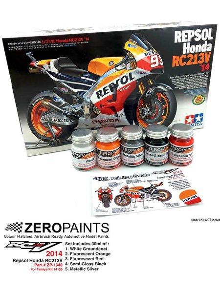 Honda RC213V -  2014 - 5 x 30ml | Set de pinturas fabricado por Zero Paints (ref.ZP-1340) image