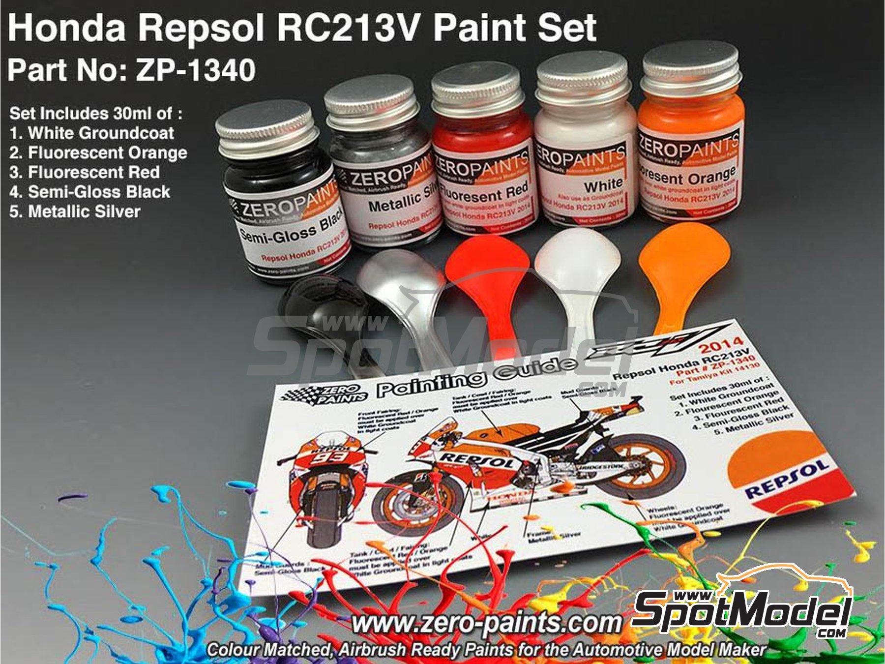 Image 1: Honda RC213V -  2014 - 5 x 30ml | Set de pinturas fabricado por Zero Paints (ref.ZP-1340)