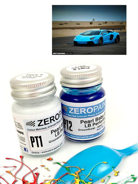 Lamborghini LB Performance Pearl Baby Blue - 2x30ml | Paints set manufactured by Zero Paints (ref. ZP-1341) image