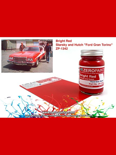 Rojo Ford Gran Torino de Starsky and Hutch - 60ml | Pintura fabricado por Zero Paints (ref. ZP-1342) image