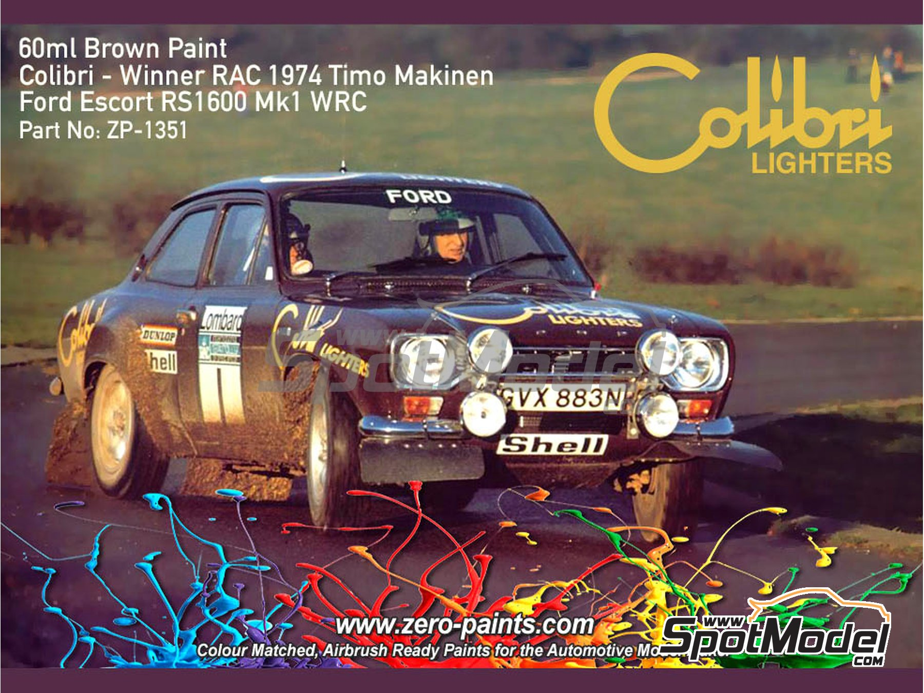 """Image 1: Brown for Ford Escort Mk I RS1600 """"Colibri Lighters"""" - 1 x 60ml 
