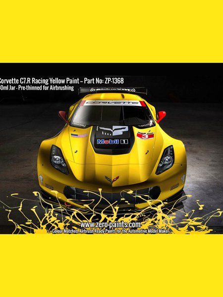 Corvette C7.R Racing Yellow | Paint manufactured by Zero Paints (ref. ZP-1368) image