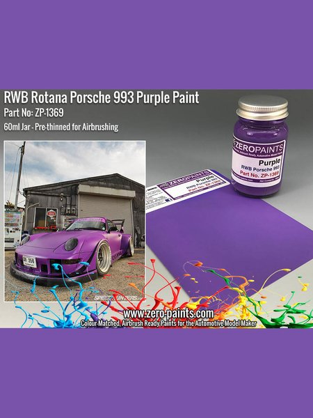 RWB Rotana Porsche 993 Purple - 60ml | Paint manufactured by Zero Paints (ref.ZP-1369) image