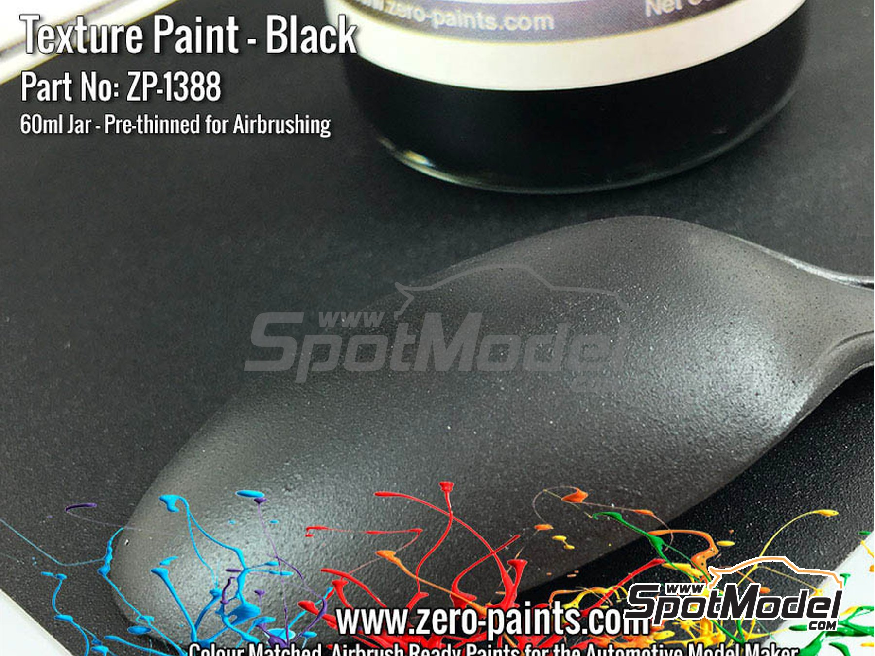 Image 2: Black Textured - 60ml | Paint manufactured by Zero Paints (ref. ZP-1388)