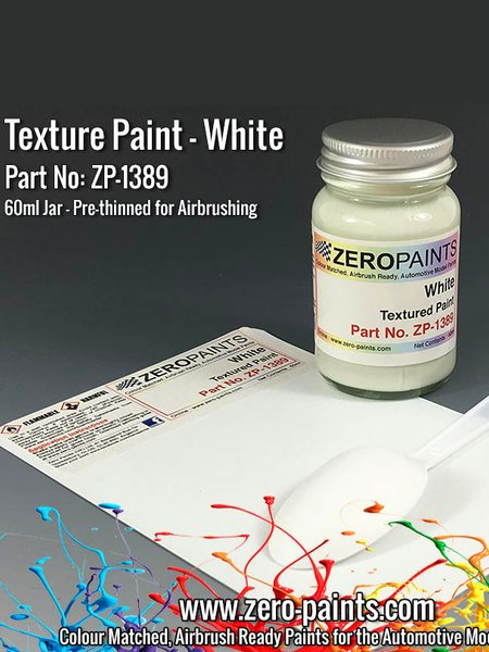 White Textured - 1 x 60ml | Paint manufactured by Zero Paints (ref. ZP-1389) image