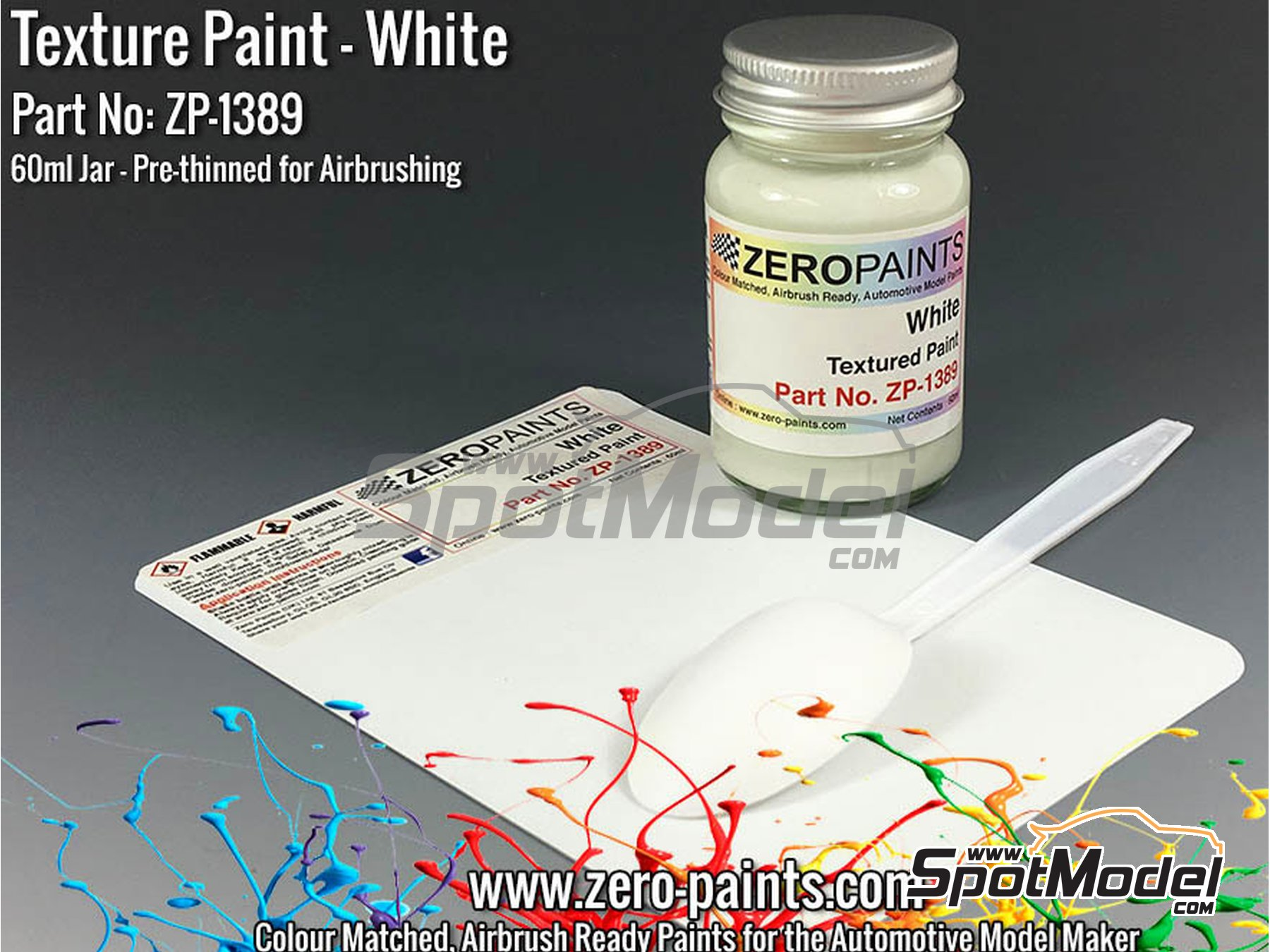 Image 1: White Textured - 1 x 60ml | Paint manufactured by Zero Paints (ref. ZP-1389)
