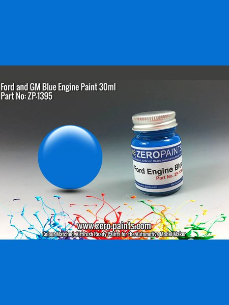 Ford and GM Blue Engine - 1 x 30ml | Paint manufactured by Zero Paints (ref.ZP-1395) image