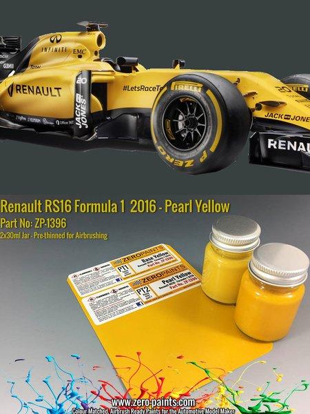 Renault RS16 Formula 1 -  2016 | Set de pinturas fabricado por Zero Paints (ref.ZP-1396) image