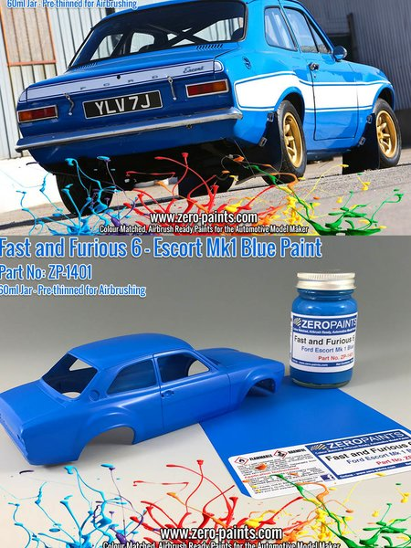 Fast and Furious 6 Ford Escort Mk 1 Blue - 60ml | Paint manufactured by Zero Paints (ref. ZP-1401) image