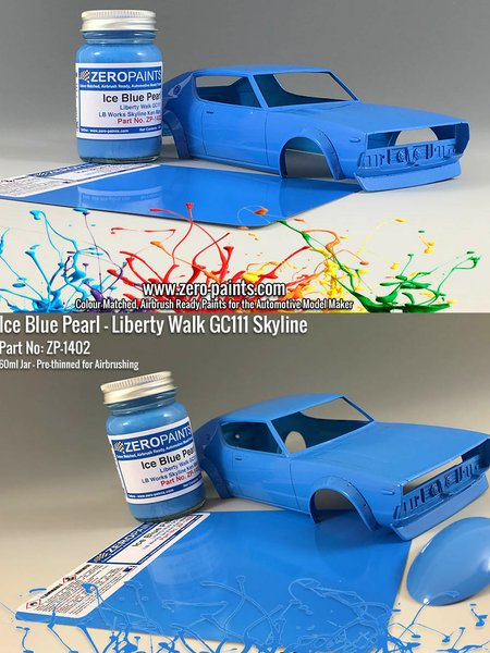 Azul Liberty Walk GC111 Skyline Ken Mary Ice Blue Pearl - 1 x 60ml | Pintura fabricado por Zero Paints (ref. ZP-1402) image