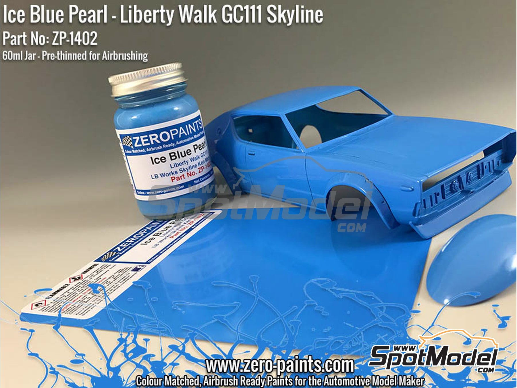 Image 1: Azul Liberty Walk GC111 Skyline Ken Mary Ice Blue Pearl - 1 x 60ml | Pintura fabricado por Zero Paints (ref. ZP-1402)