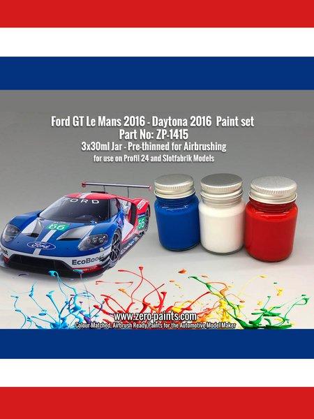 Ford GT -  2016 - 3 x 30ml | Paints set manufactured by Zero Paints (ref.ZP-1415) image