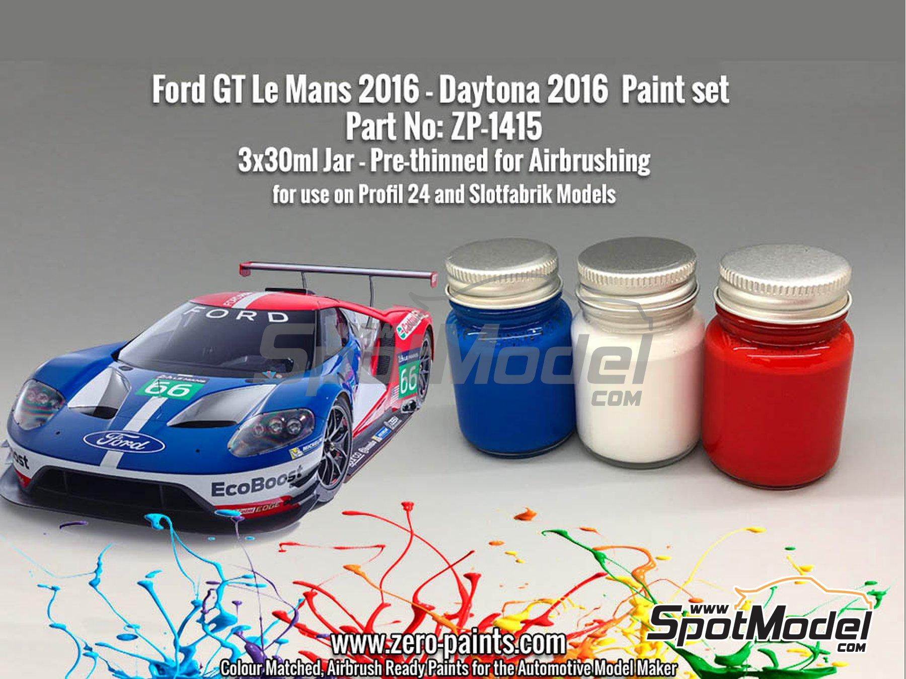 Image 1: Ford GT -  2016 - 3 x 30ml | Paints set manufactured by Zero Paints (ref.ZP-1415)