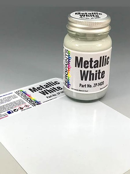 Metallic White | Paint manufactured by Zero Paints (ref. ZP-1420) image