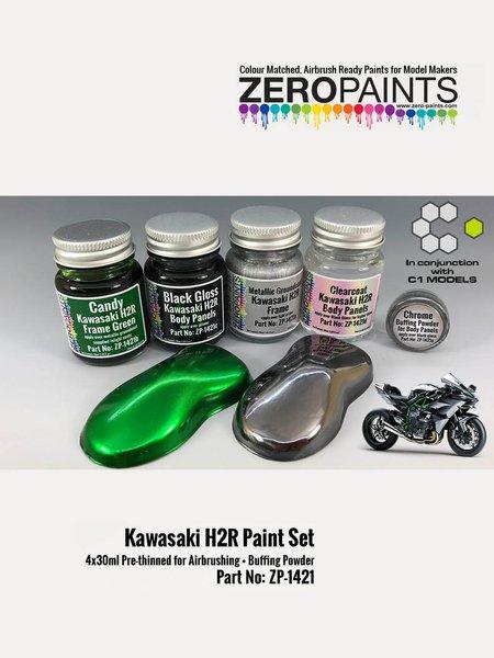 Kawasaki H2R | Paints set manufactured by Zero Paints (ref.ZP-1421) image