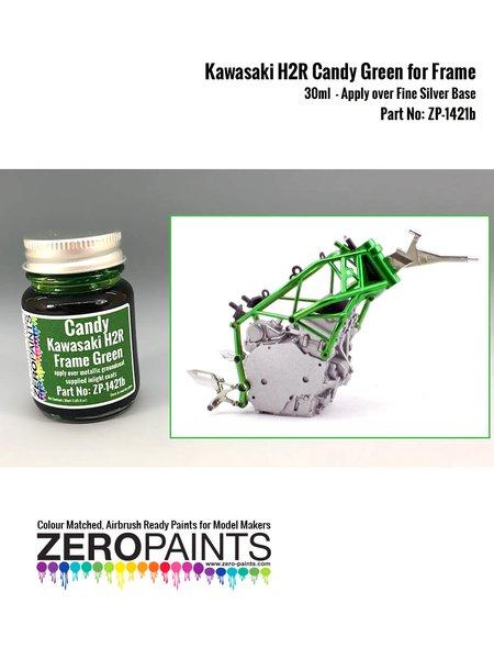 Verde para el chasis de la Kawasaki Ninja H2R | Pintura en escala1/24 fabricado por Zero Paints (ref.ZP-1421b) image