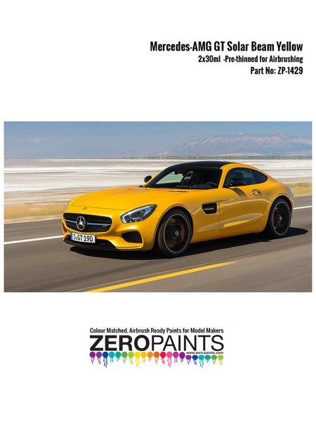 Mercedes-AMG GT Solar Beam Yellow - 2x30ml | Paints set manufactured by Zero Paints (ref. ZP-1429) image