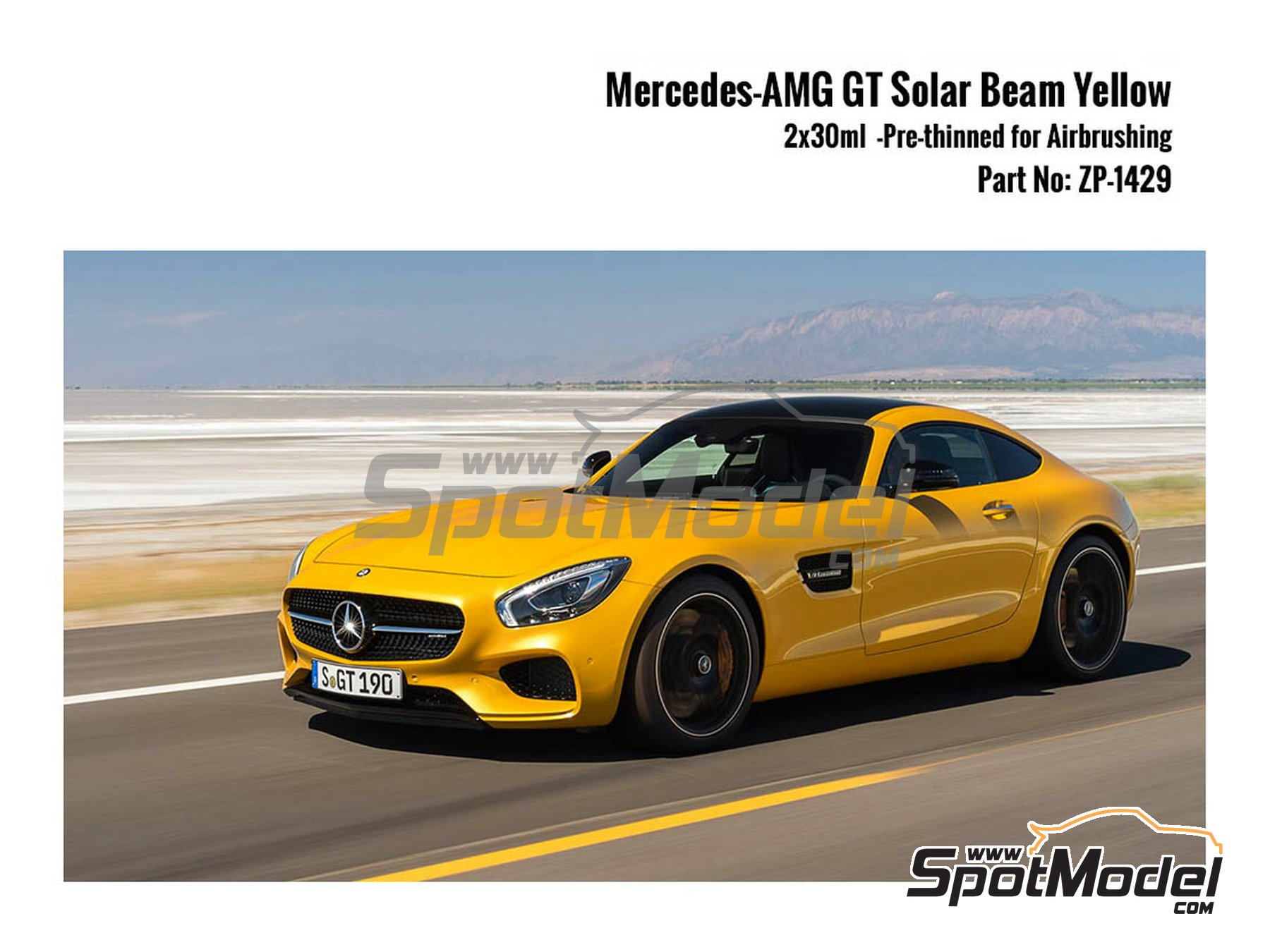 Image 1: Mercedes-AMG GT Solar Beam Yellow - 2x30ml | Paints set manufactured by Zero Paints (ref. ZP-1429)