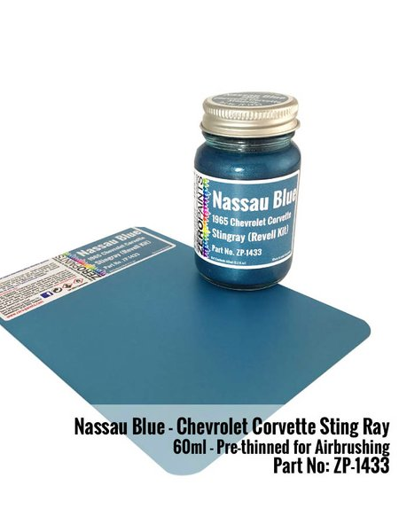 Nassau Blue for Chevrolet Corvette Stingray -  1965 | Paint manufactured by Zero Paints (ref. ZP-1433) image