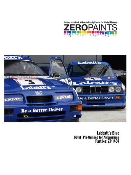 Labatt's Blue - British Touring Car Championship - BTCC | Paint manufactured by Zero Paints (ref. ZP-1437) image