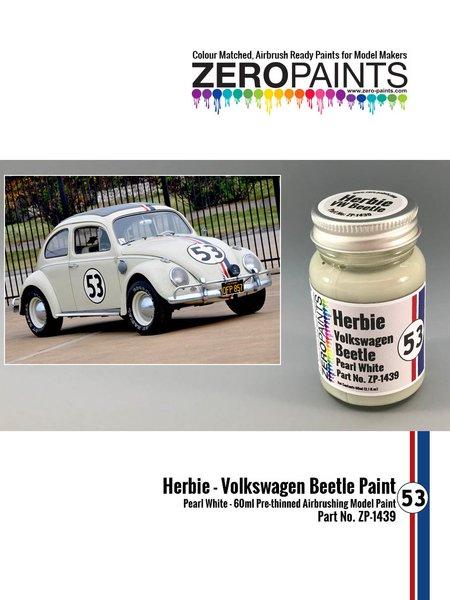Blanco Herbie #53 Volkswagen Beetle | Pintura fabricado por Zero Paints (ref.ZP-1439) image