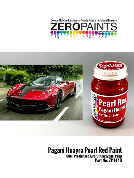 Pagani Huayra pearl red - 1 x 60ml | Paint manufactured by Zero Paints (ref. ZP-1440) image