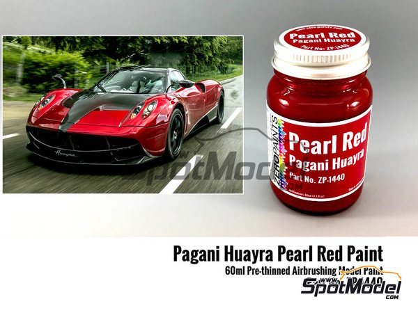 Image 1: Pagani Huayra pearl red - 1 x 60ml | Paint manufactured by Zero Paints (ref. ZP-1440)
