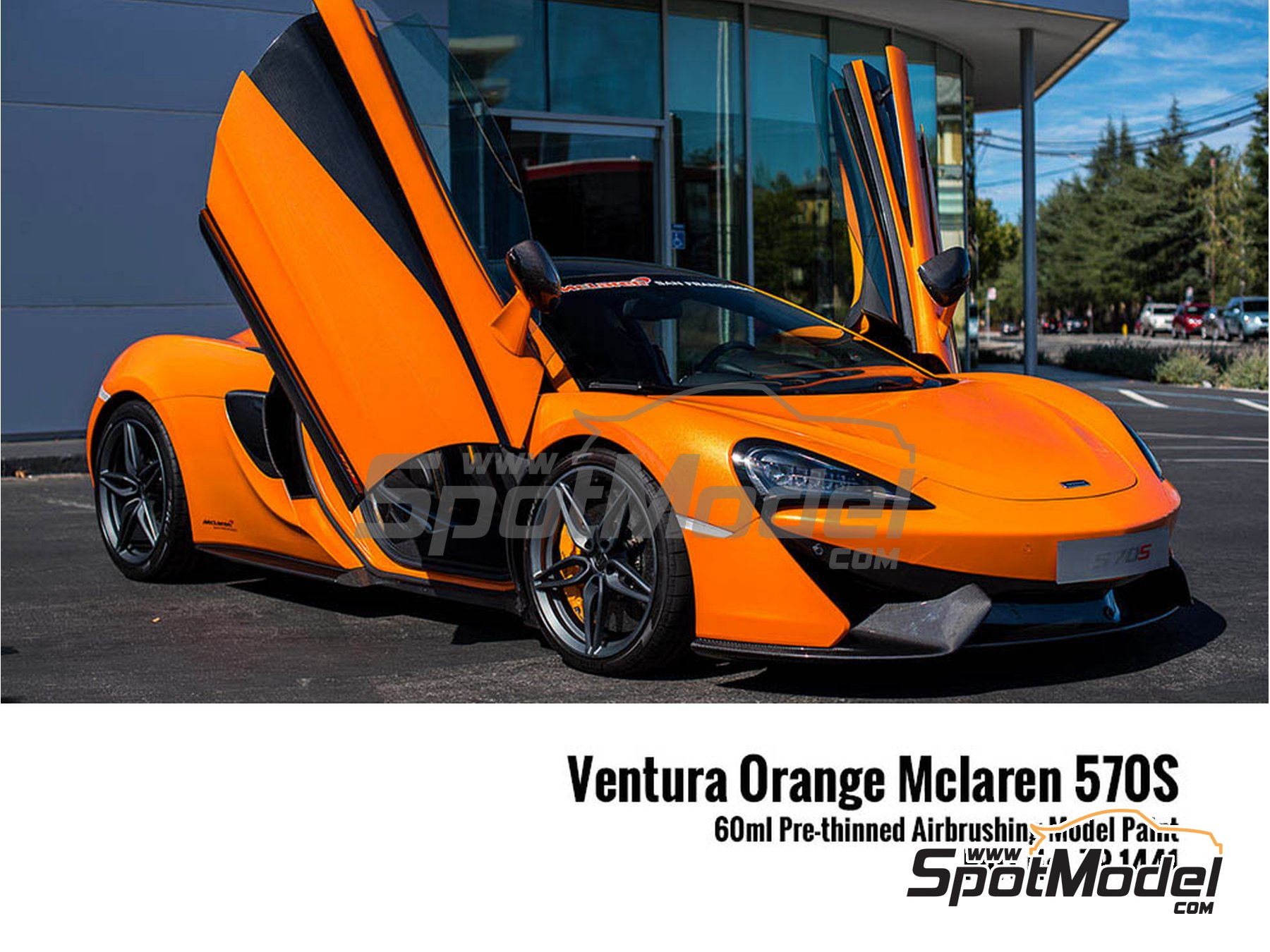 Image 2: McLaren 570S Ventura Orange | Paint manufactured by Zero Paints (ref. ZP-1441)