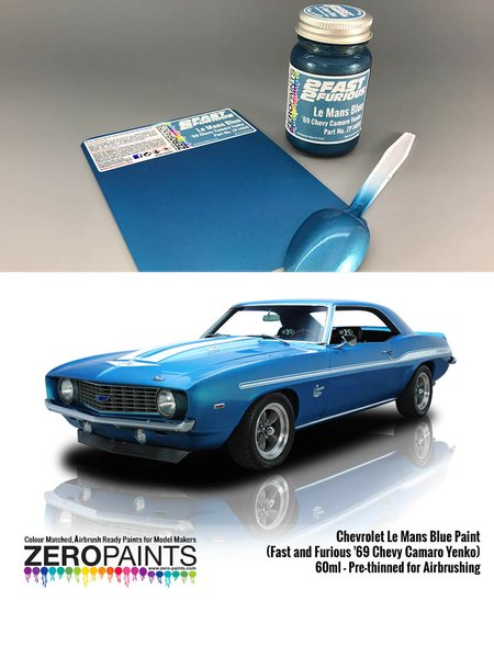 Chevrolet Le Mans Blue Paint (Fast and Furious '69 Chevy Camaro Yenko) - 1 x 60ml | Paint manufactured by Zero Paints (ref. ZP-1450) image