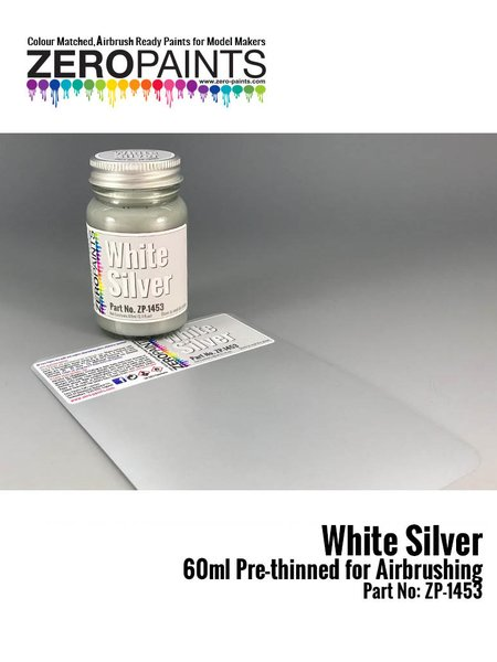 White silver | Paint manufactured by Zero Paints (ref. ZP-1453) image