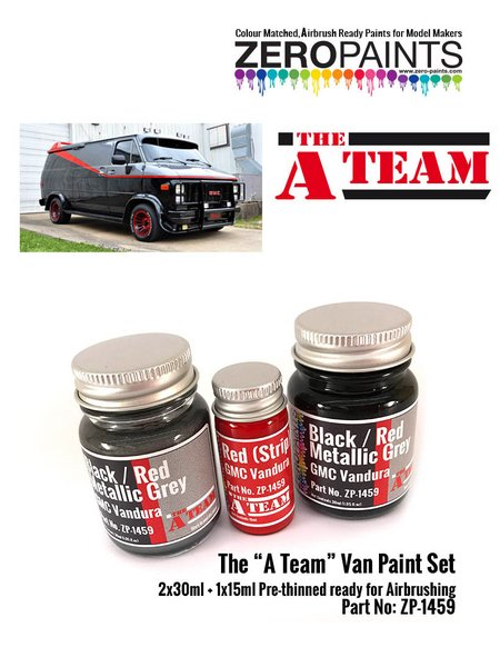 The A team van - 1 x 15ml + 2 x 30ml | Paints set manufactured by Zero Paints (ref. ZP-1459) image