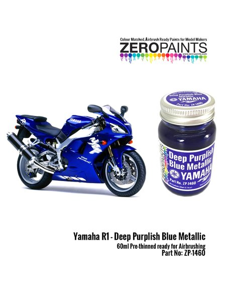 Yamaha R1 Deep purplish blue metallic - 60ml | Paint manufactured by Zero Paints (ref. ZP-1460) image