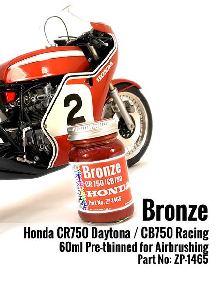 Honda CR750/CB750 Bronze Paint - 60ml | Paint manufactured by Zero Paints (ref. ZP-1465) image