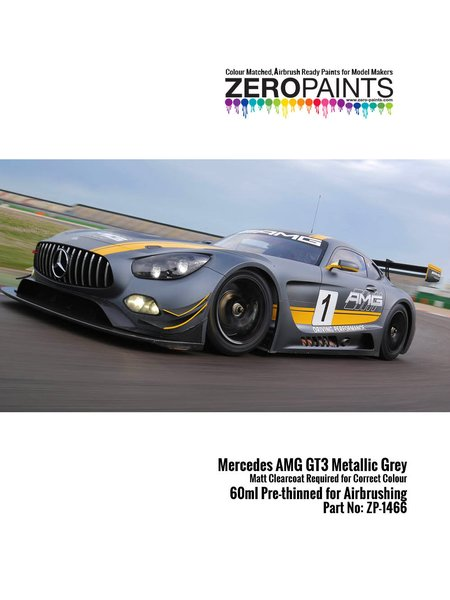 Mercedes Benz AMG GT3 metallic grey - 60ml | Paint manufactured by Zero Paints (ref. ZP-1466) image