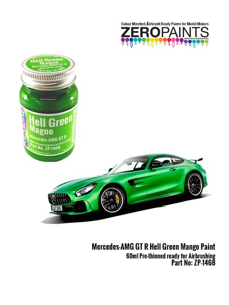Mercedes Benz AMG GT R Green Hell Mango - 60ml | Paint manufactured by Zero Paints (ref. ZP-1468) image
