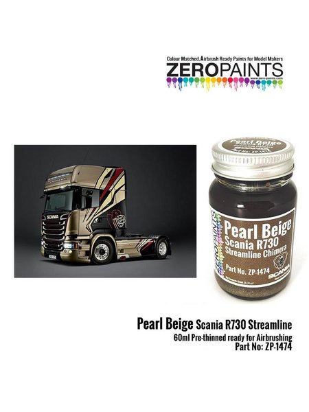 Pearl beige for Scania R730 Streamline - 1 x 60ml | Paint manufactured by Zero Paints (ref.ZP-1474) image
