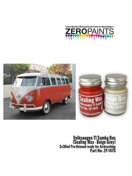 Volkswagen T1 Samba Bus | Paints set manufactured by Zero Paints (ref. ZP-1475) image