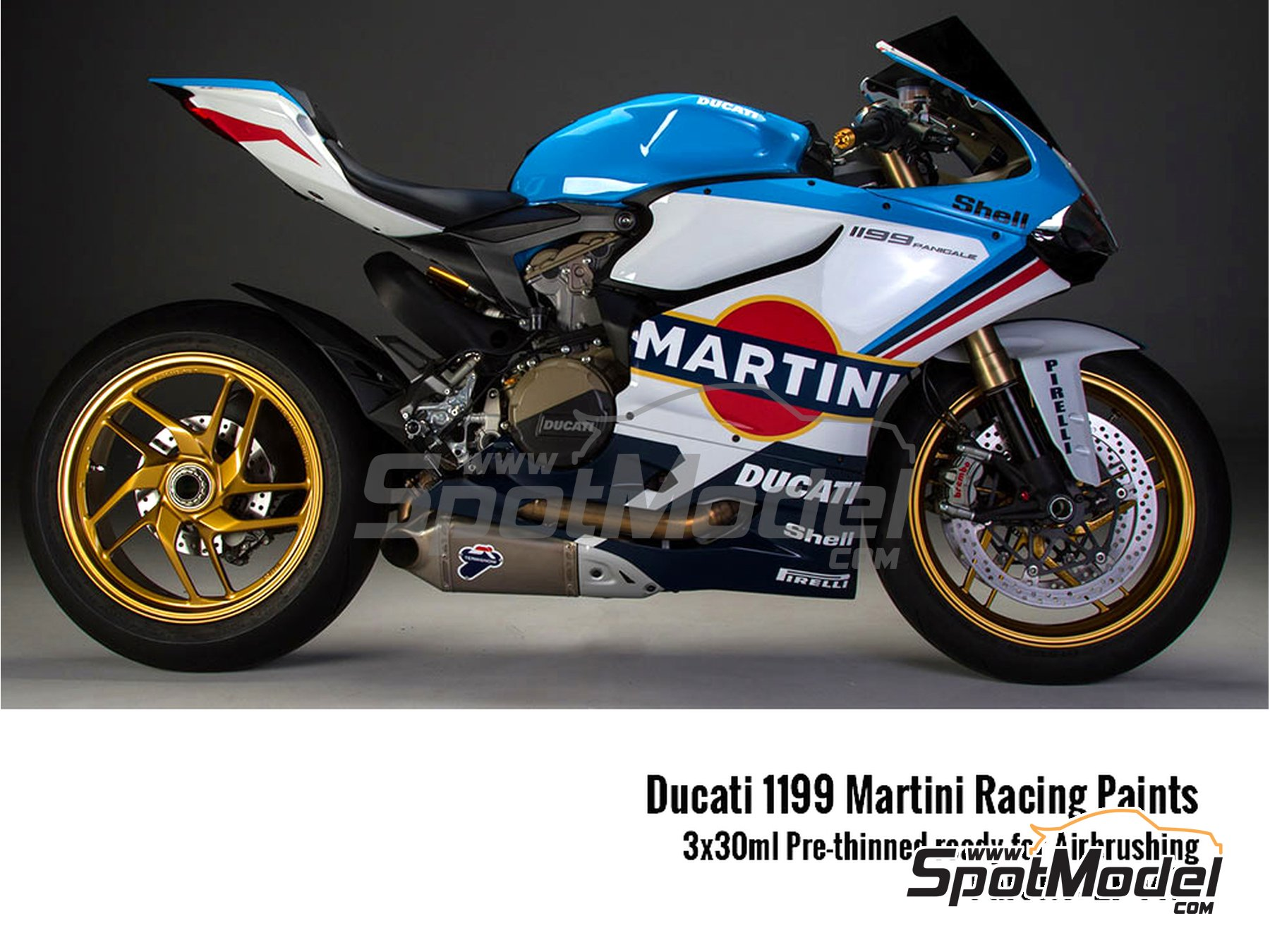 Image 1: Ducati 1199 Panigale S Martini | Paints set manufactured by Zero Paints (ref. ZP-1477)