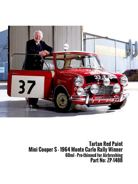 Tartan Red Mini Cooper S 1964 - 60ml | Paint manufactured by Zero Paints (ref. ZP-1488) image