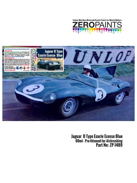 Jaguar D type Ecurie Ecosse blue Ecurie Ecosse | Paint manufactured by Zero Paints (ref. ZP-1489) image