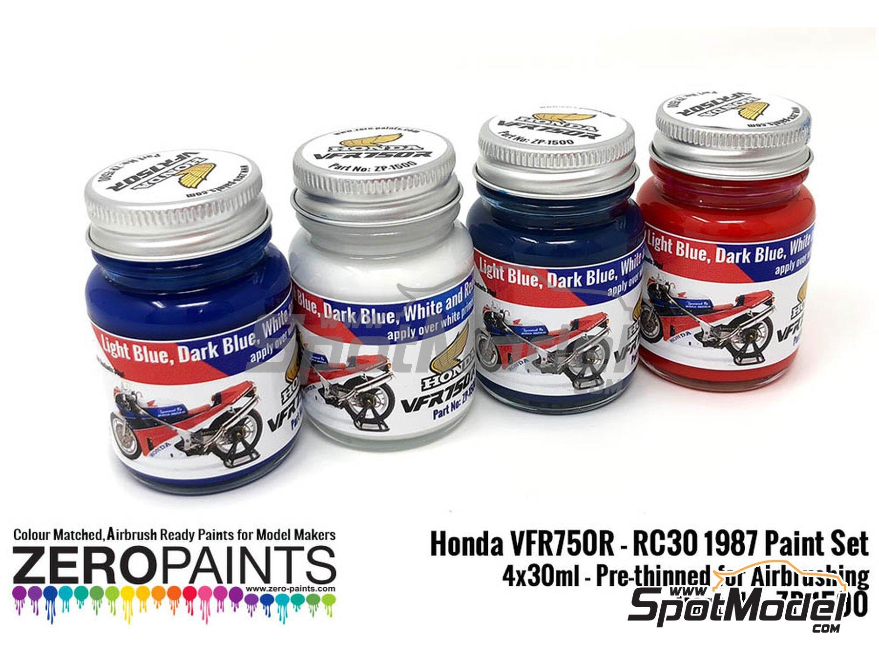 Image 2: Honda VFR750R RC30 | Paints set manufactured by Zero Paints (ref.ZP-1500)