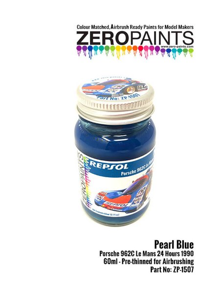 Pearl Blue Porsche 962C Le Mans 24 Hours 1990 60ml | Paint manufactured by Zero Paints (ref. ZP-1507) image