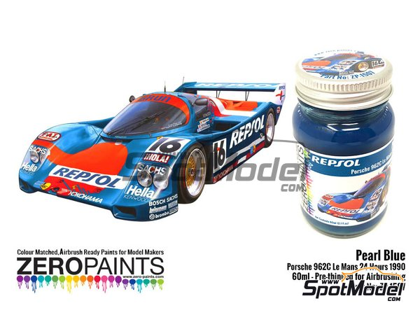 Image 1: Pearl Blue Porsche 962C Le Mans 24 Hours 1990 - 1 x 60ml | Paint manufactured by Zero Paints (ref. ZP-1507)