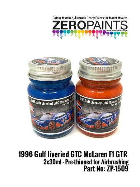 1996 Gulf liveried GTC McLaren F1 GTR Paint Set   Paints set manufactured by Zero Paints (ref.ZP-1509) image