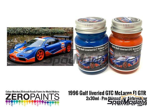 Image 1: 1996 Gulf liveried GTC McLaren F1 GTR Paint Set   Paints set manufactured by Zero Paints (ref.ZP-1509)