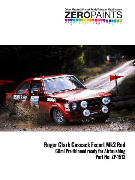 Roger Clark Cossack Ford Escort Mk II Red | Paint manufactured by Zero Paints (ref.ZP-1512) image