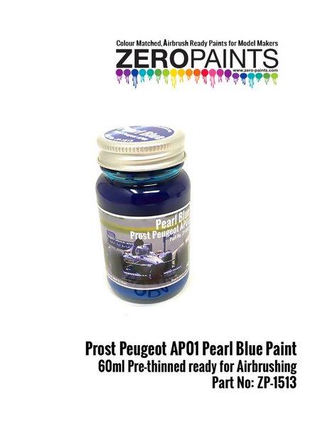 Azul Perlado Prost Peugeot AP01 Pearl Blue - 1 x 60ml | Pintura fabricado por Zero Paints (ref.ZP-1513) image