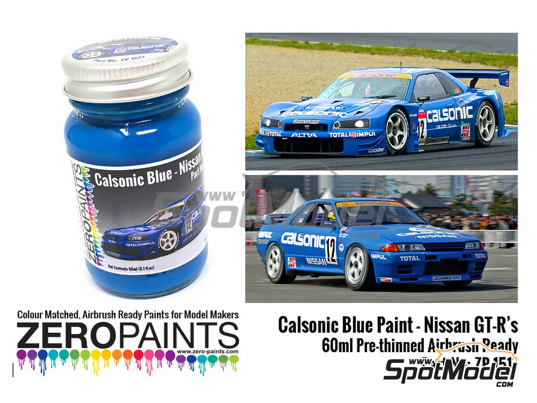 Image 1: Calsonic blue - 1 x 60ml   Paint manufactured by Zero Paints (ref.ZP-1517)