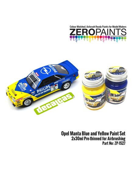 Opel Manta Phillips blue and yellow - 2 x 30ml | Paints set manufactured by Zero Paints (ref.ZP-1527) image