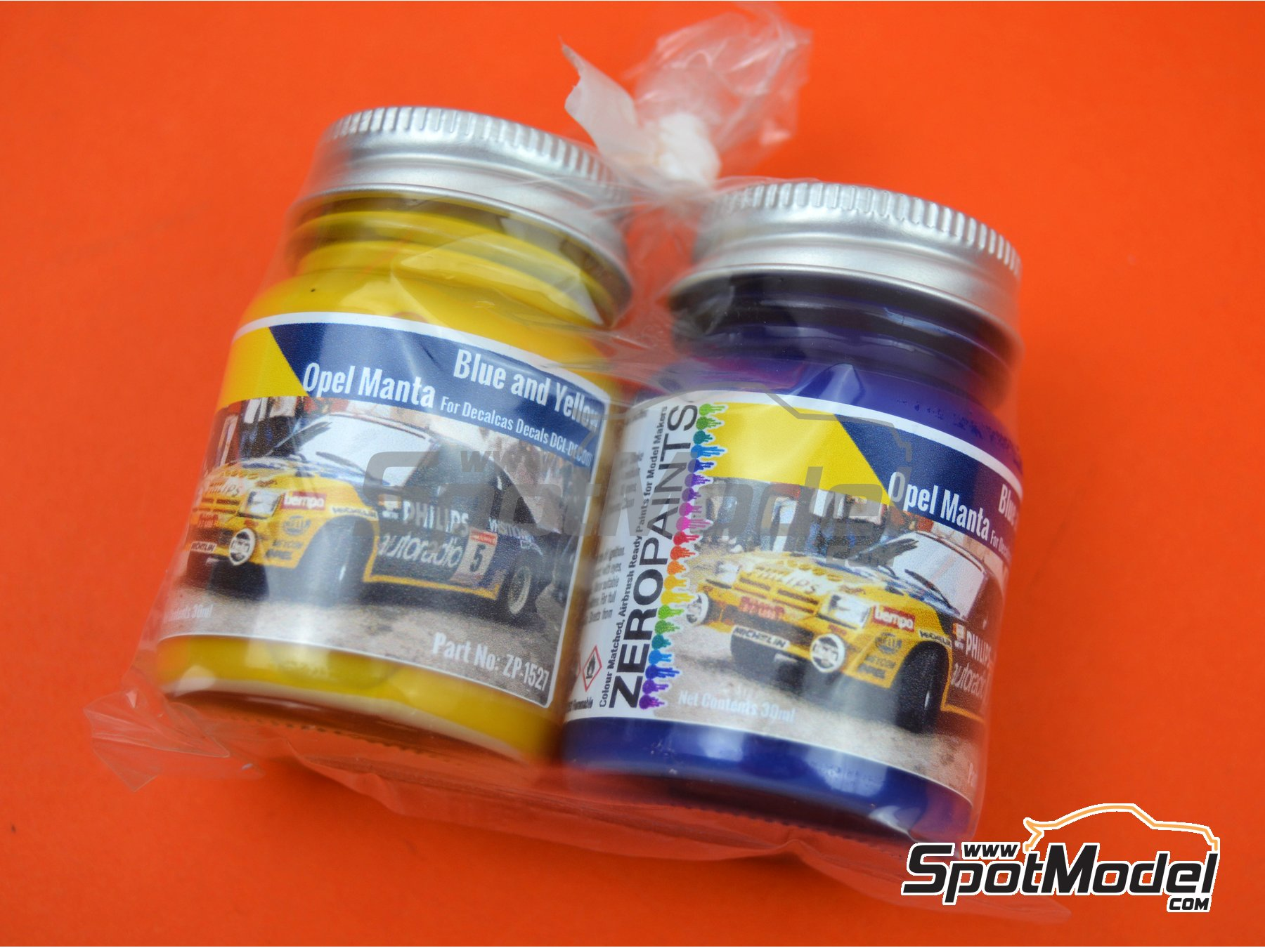 Image 2: Opel Manta Phillips blue and yellow - 2 x 30ml | Paints set manufactured by Zero Paints (ref.ZP-1527)
